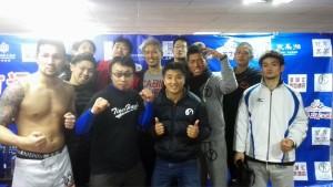 中国遠征チーム。中国での試合後