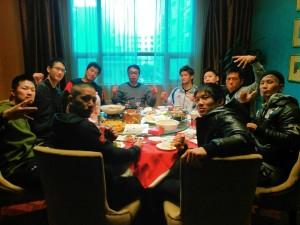 みんなで中国で食事